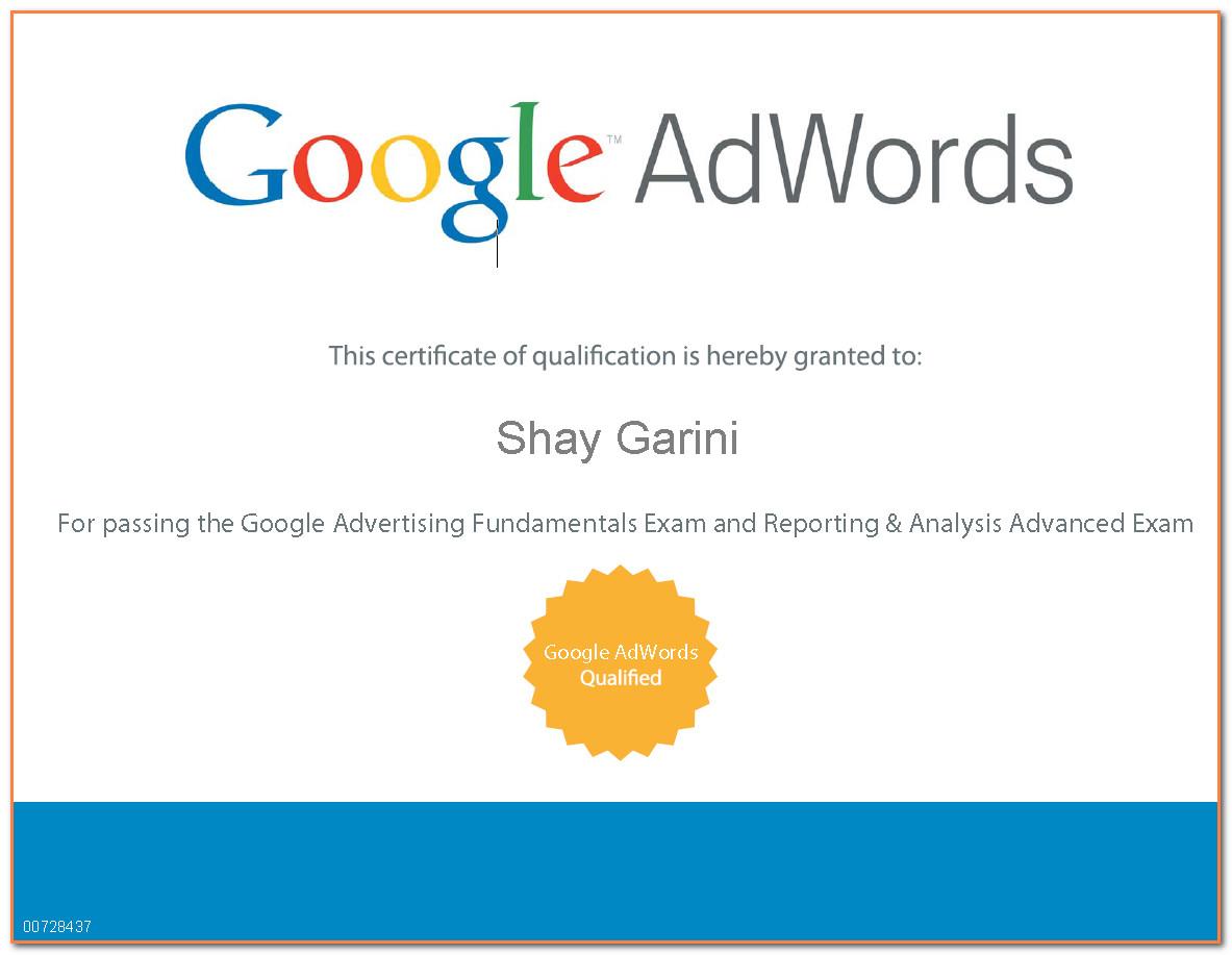 פרסום ממומן בגוגל, מומחה גוגל Adwords