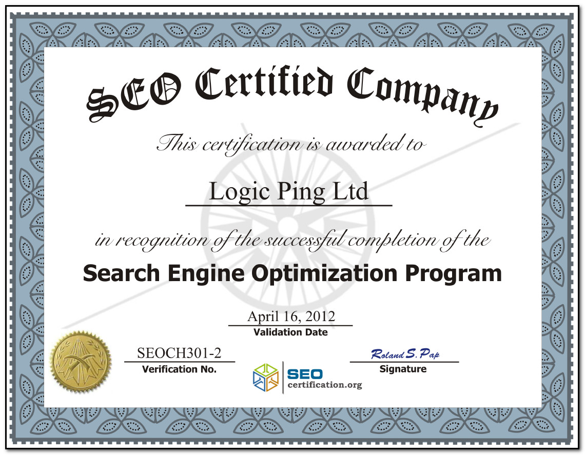 certification for seo services